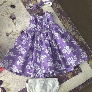 Janie and jack dress outfit size 6-12 months